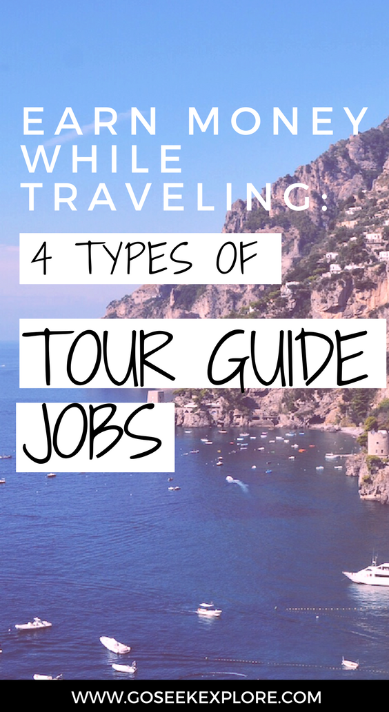 How to earn money WHILE traveling! 4 Types of Tour Guiding positions. I was a guide and have to say it was an awesome way to travel! I went to 11 countries in Europe for work. Check this out!