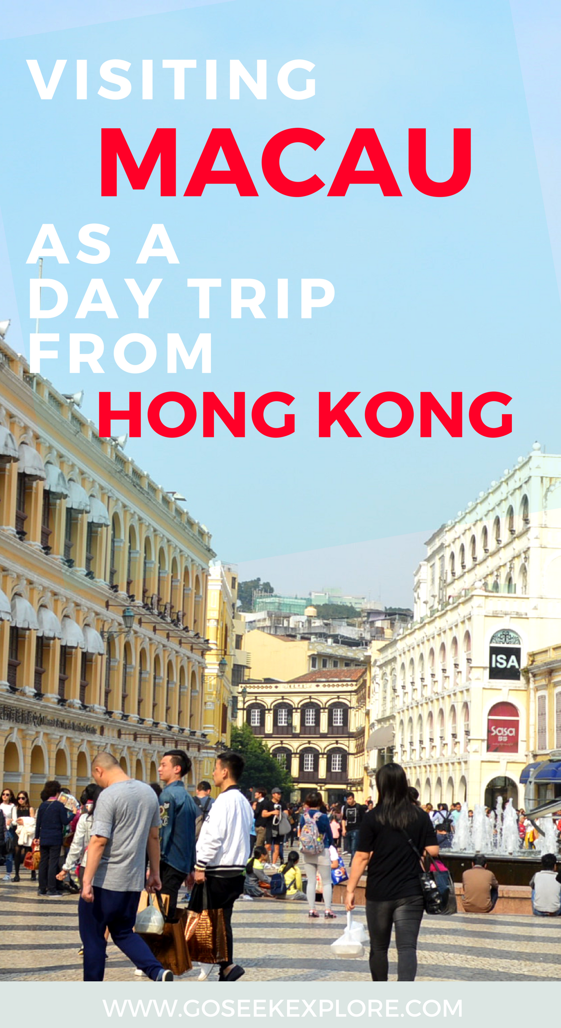 Day trip from Hong Kong to Macau!! What it's like to visit MACAU,  a former Portuguese area in Asia, just a 60 minute ferry ride from Hong Kong!