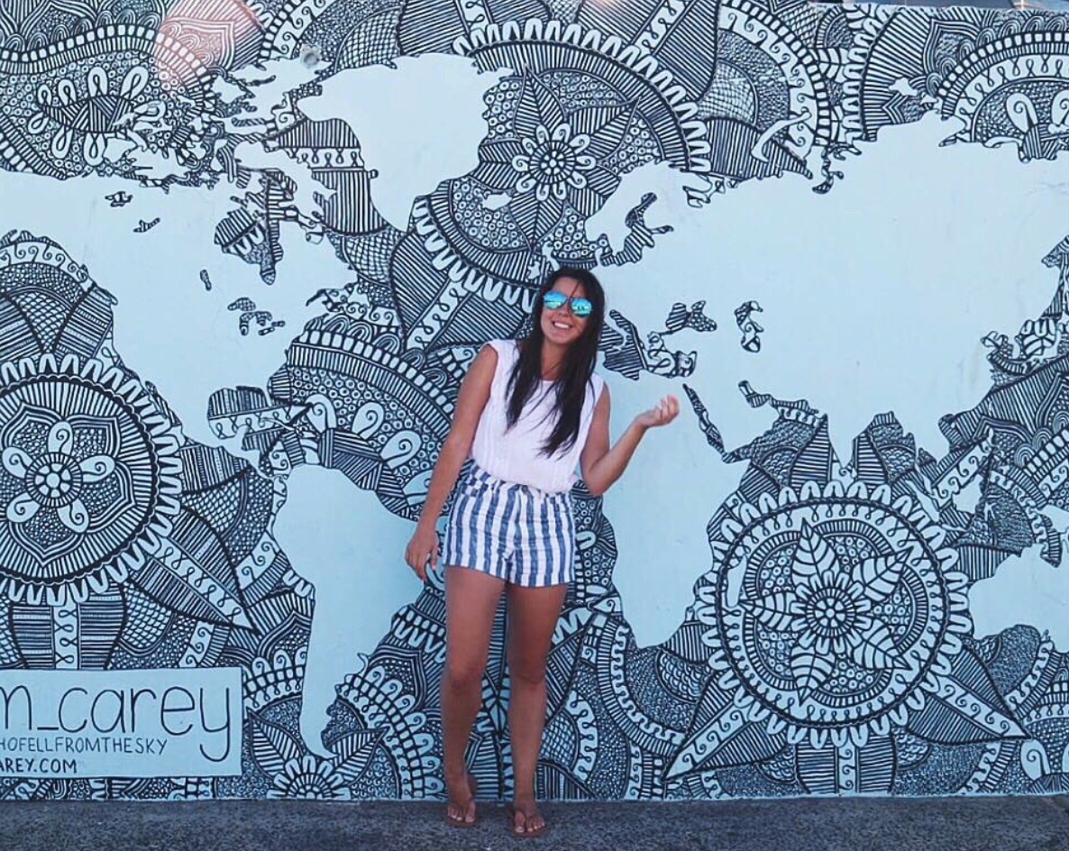Bondi Beach map wall by @em_carey / POST: Signs you need to travel again, ASAP! Relatable post from goseekexplore.com