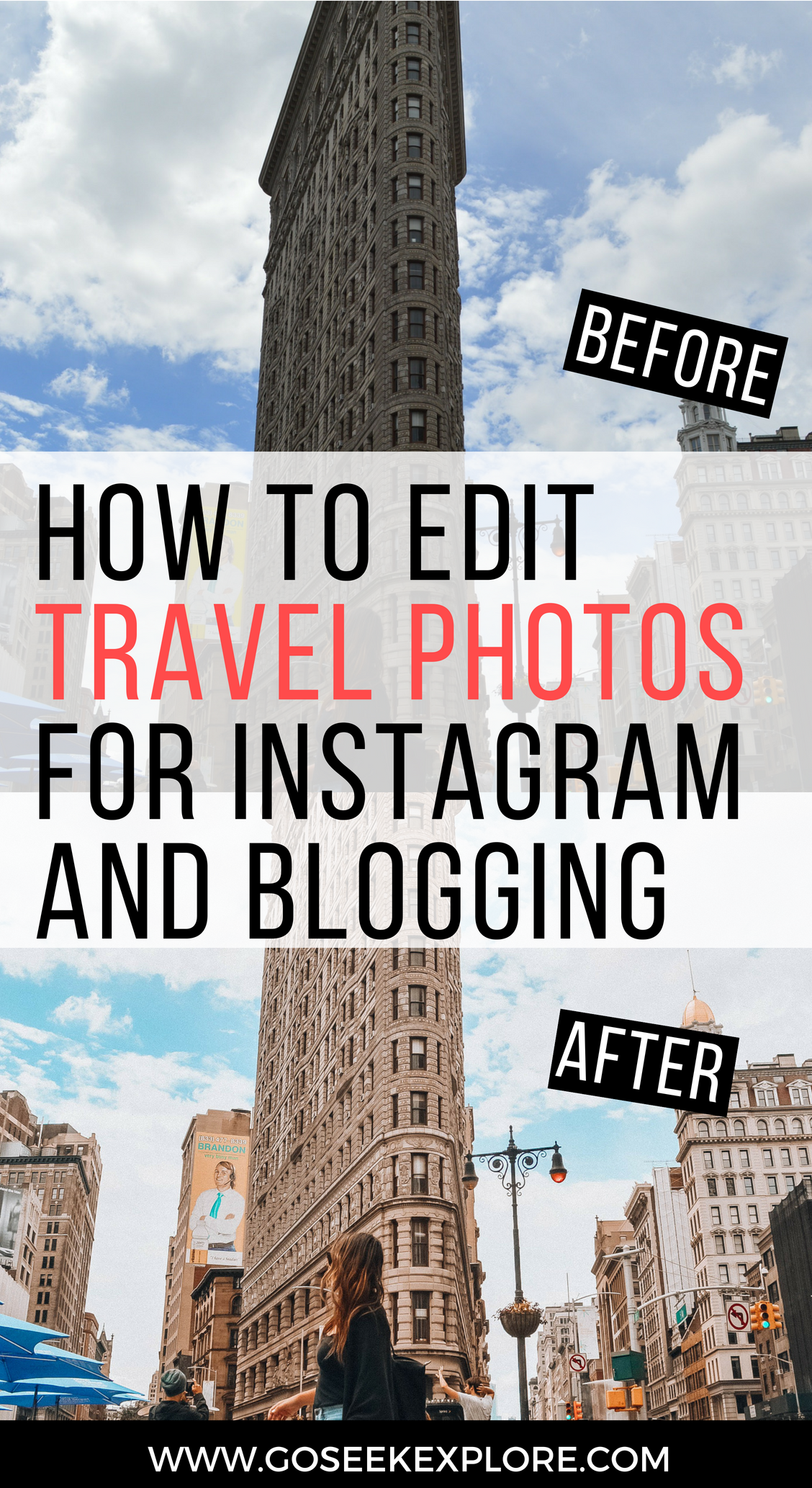 How to Edit Travel Photos for Instagram and Blogging! Great tips and apps to use; best free mobile apps for photo editing. // goseekexplore.com // How-edit-travel-photos-instagram-blogging