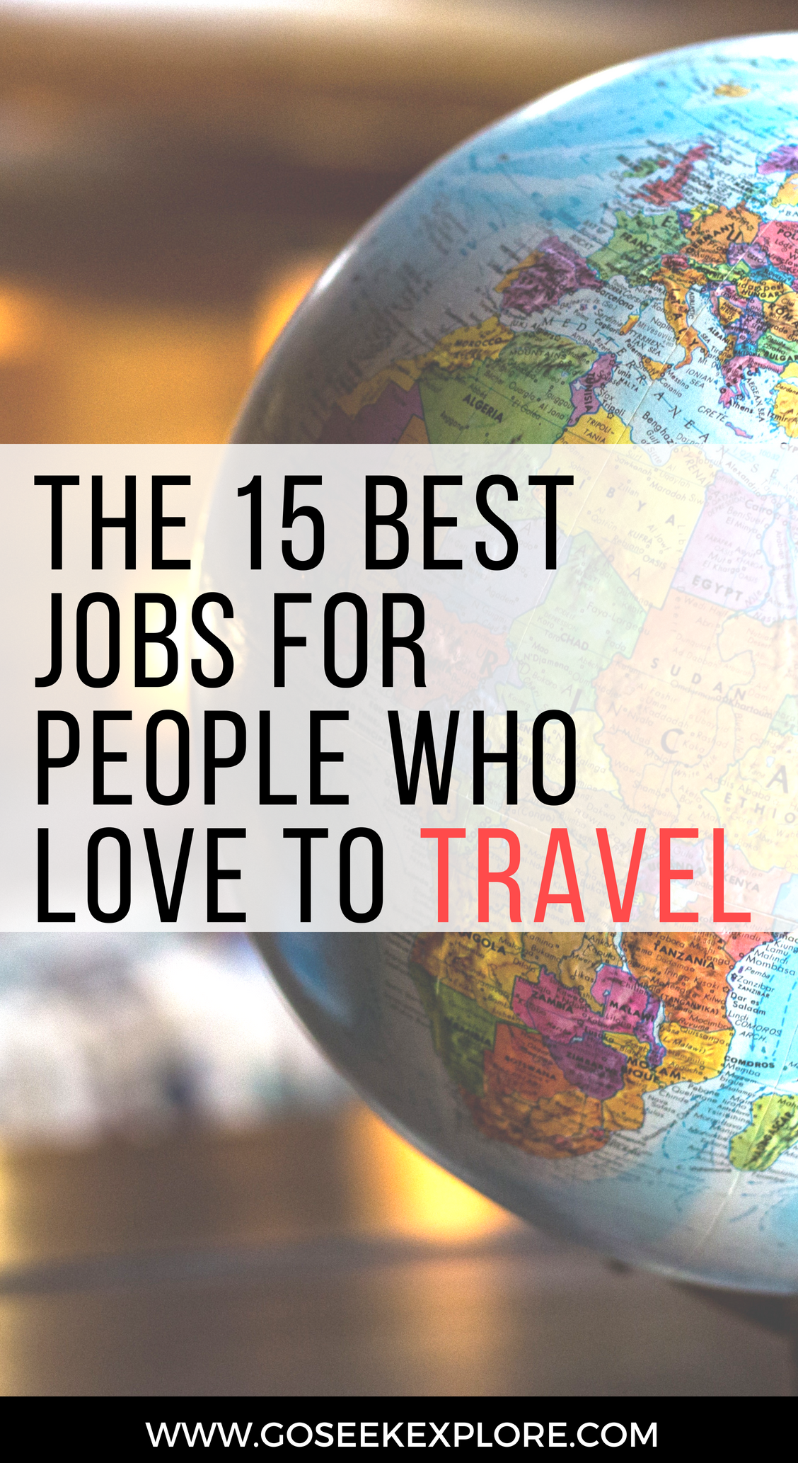 The 15 Best Jobs for People who love to TRAVEL! How to get paid to travel, for real plus tips for how to get started. Super helpful guide! // goseekexplore.com // Ally Archer // 15-best-jobs-people-love-travel