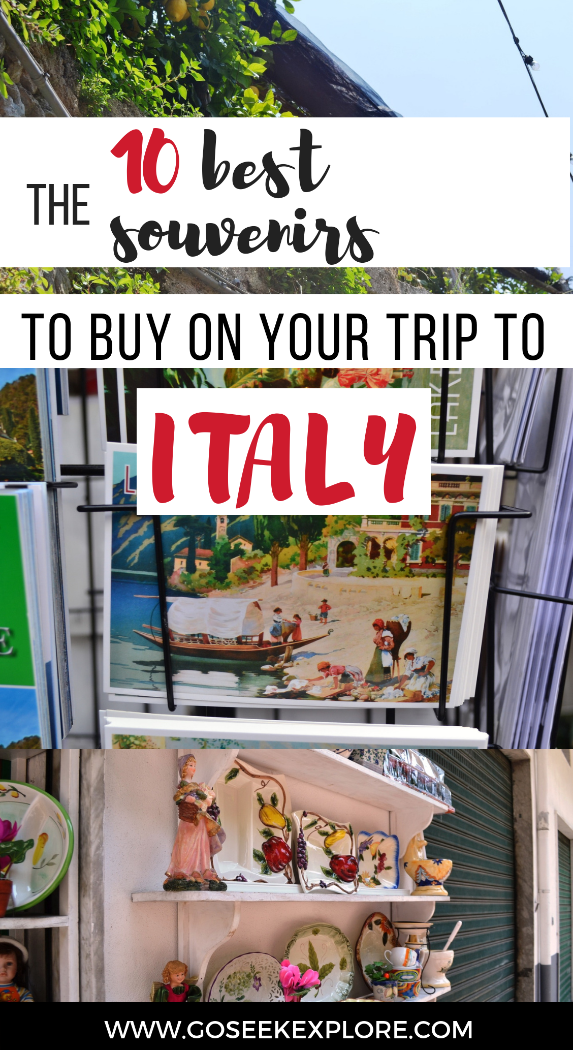 Memories and experiences are more important than things, though when you travel it can be fun to shop around and see what the local specialties are. If you're looking for what souvenirs to buy in Italy, here's what you should get - these are much better than your average refrigerator magnet or key chain. / 10-best-souvenirs-italy