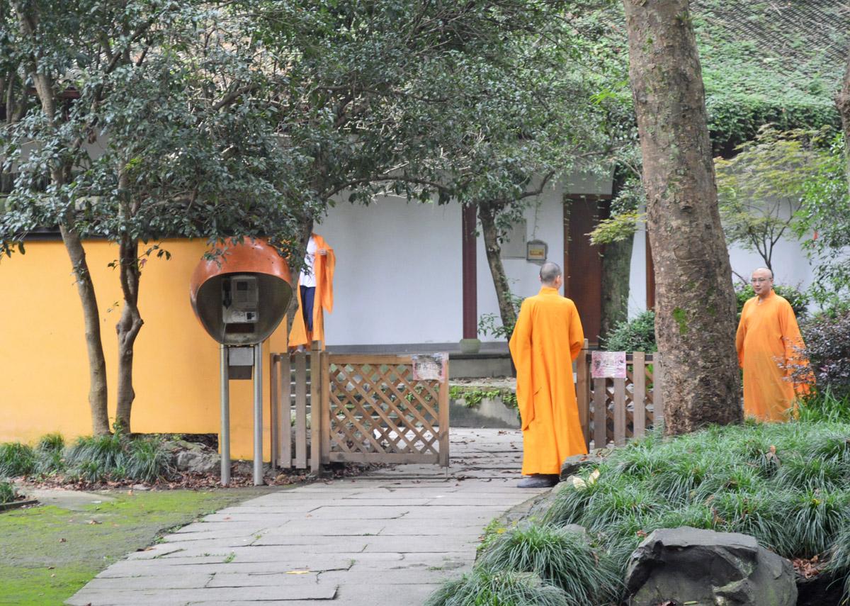 Monks in Hangzhou, China
