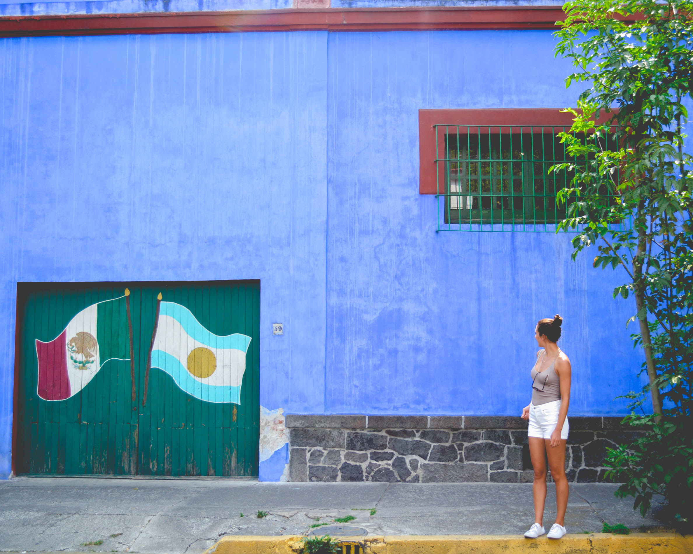 One of things you should do in Mexico City is visit the Frida Kahlo Museum, or Casa azul (the blue house)!