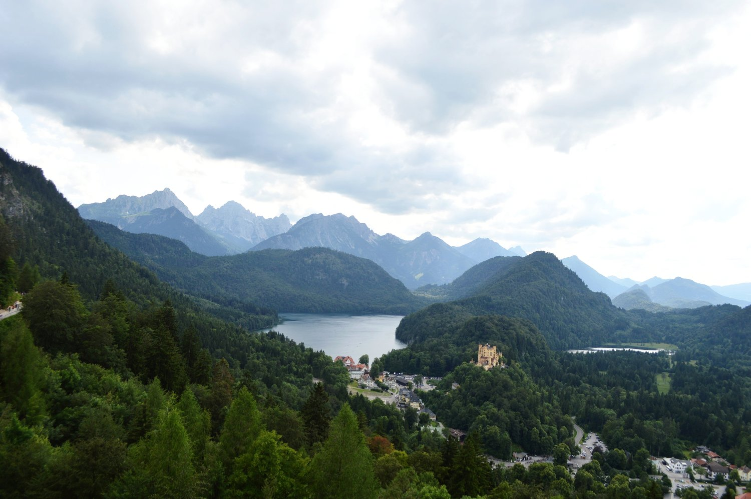 View from a balcony at Neuschwanstein Castle, Germany
