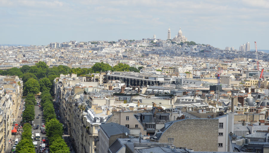 Sacre-Coeur in the distance
