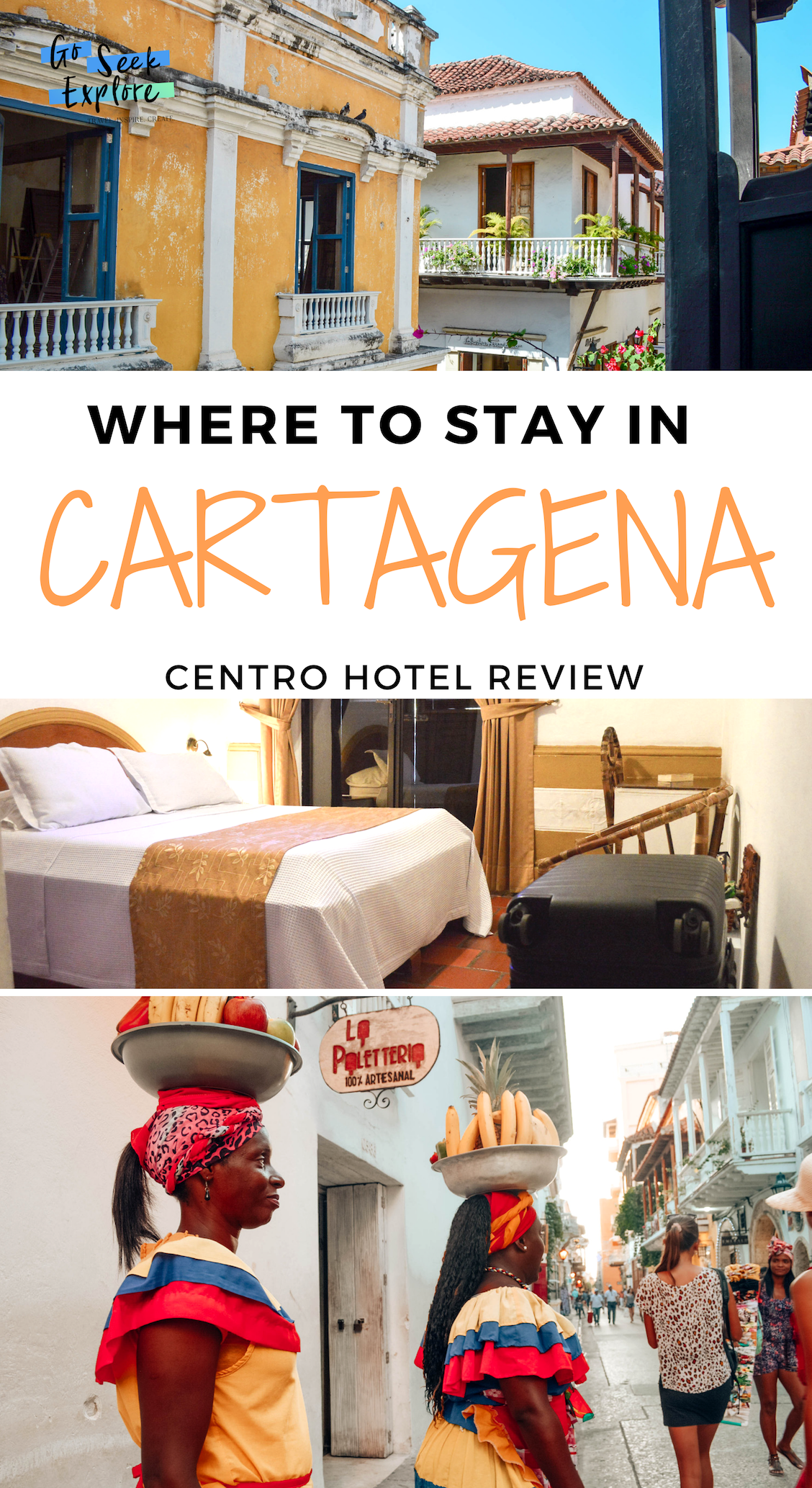 Where to stay in Cartagena, Colombia - Cartagena hotel review of the best place to stay - goseekexplore.com / where-stay-cartagena-centro-hotel #cartagena #colombia