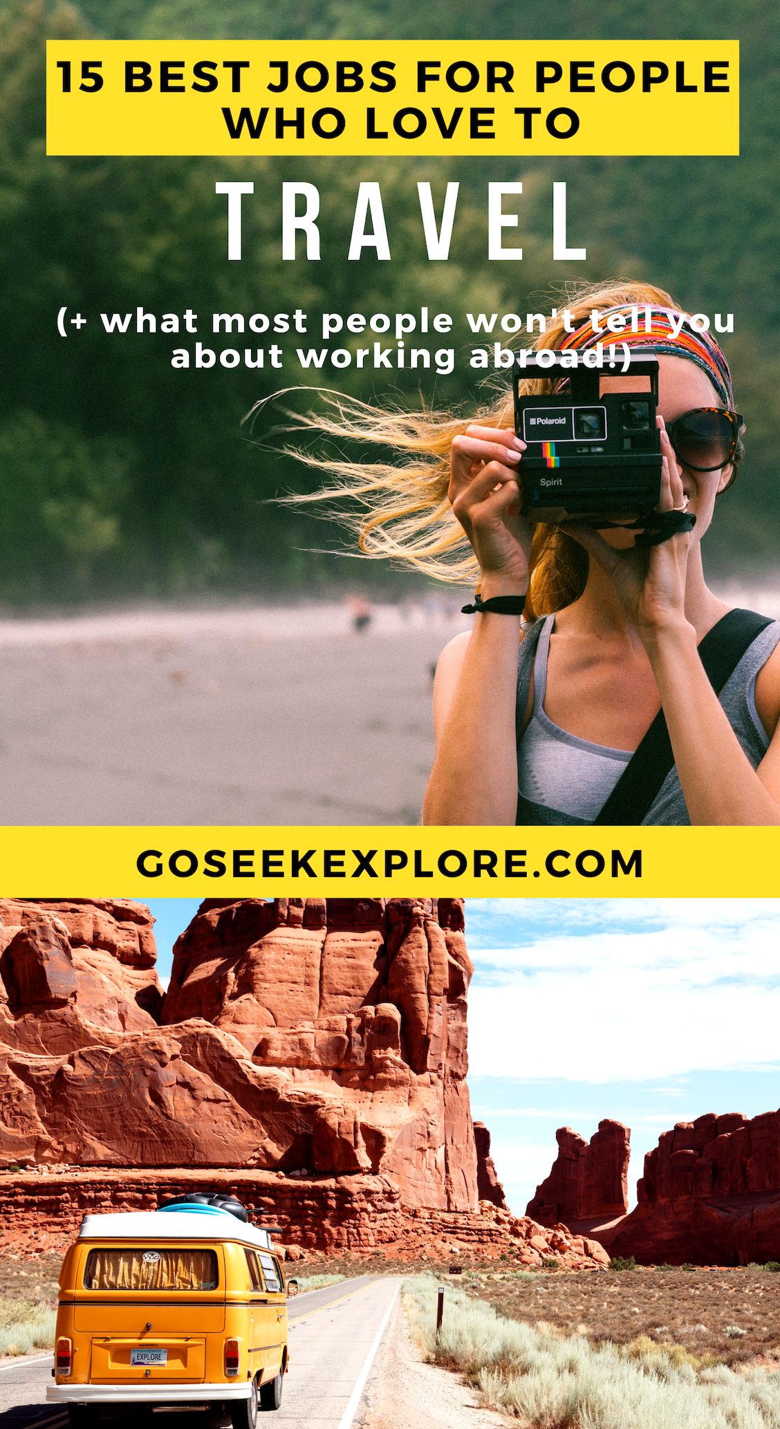 The 15 Best Jobs for People Who Love to Travel - plus what most people don't tell you about working abroad! Realistic work abroad opportunities to make travel your career! / goseekexplore.com