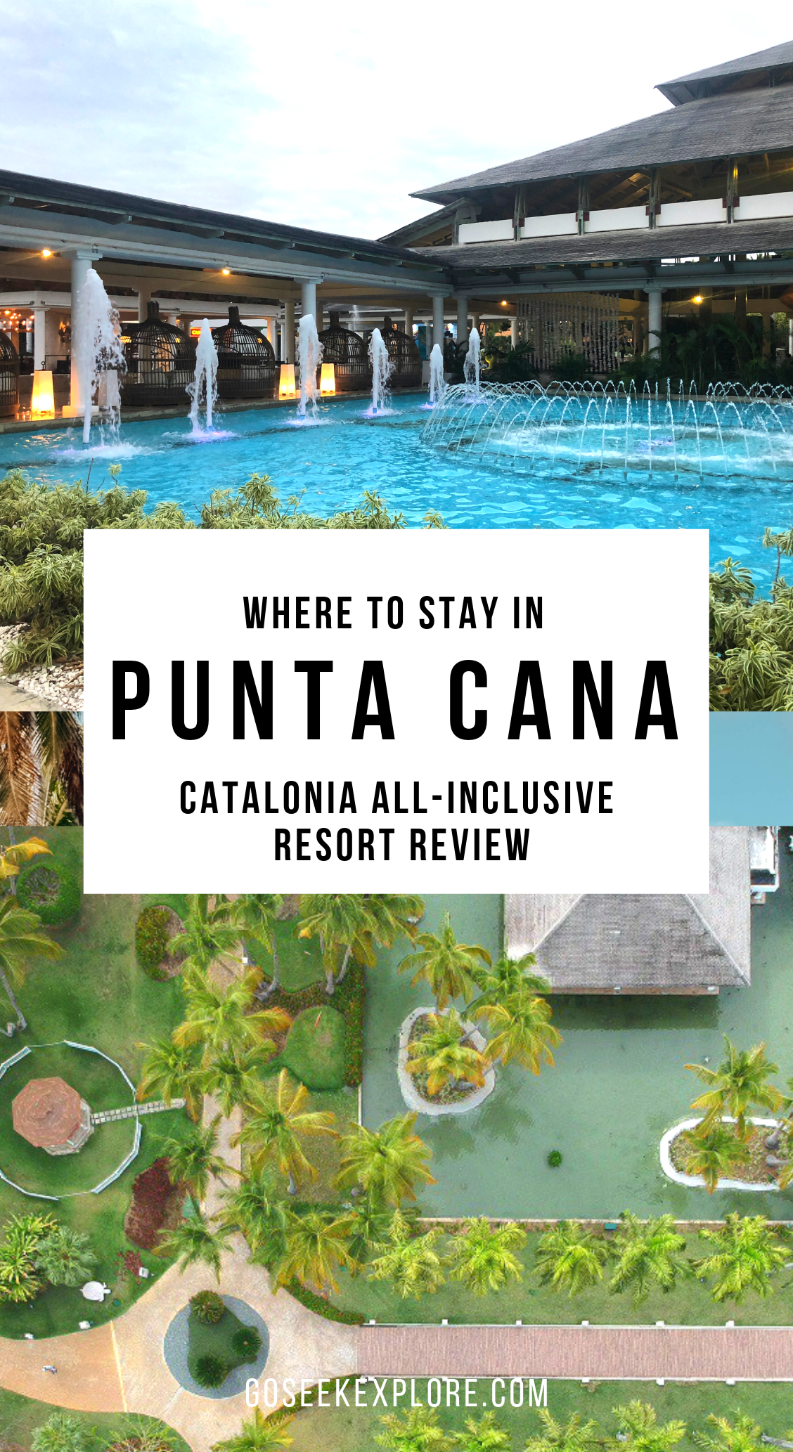Where to stay in Punta Cana - there are many resorts to consider, and Catalonia Punta Cana All-inclusive Resort is amazing! Click through for a review on this property - goseekexplore.com
