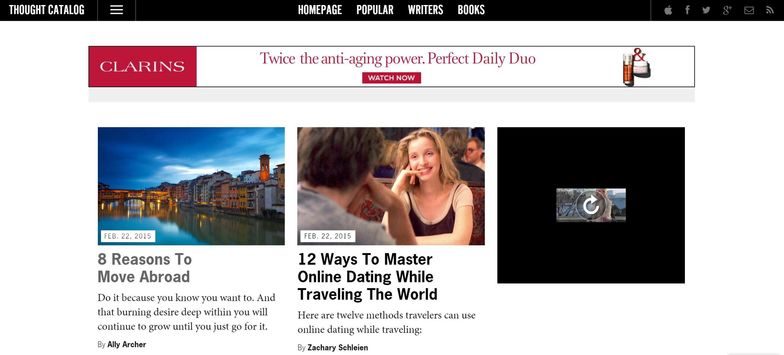 Screenshot of one of my Thought Catalog posts published on the left! - February 2015