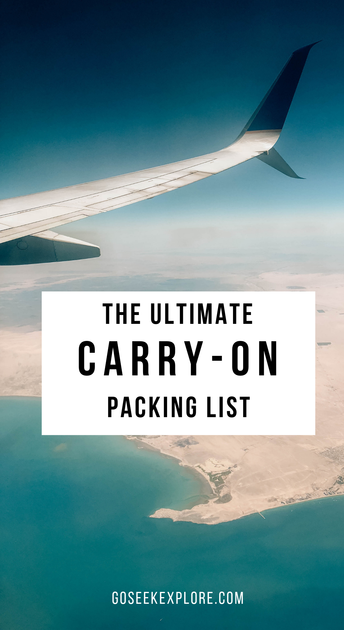 The Ultimate Carry-on Packing List! Everything you need in your carry-on for smooth travel, especially in the off-chance your checked bag gets lost or delayed. Use this list as a checklist for every trip! goseekexplore.com #traveltips #travelhacks #packingtips
