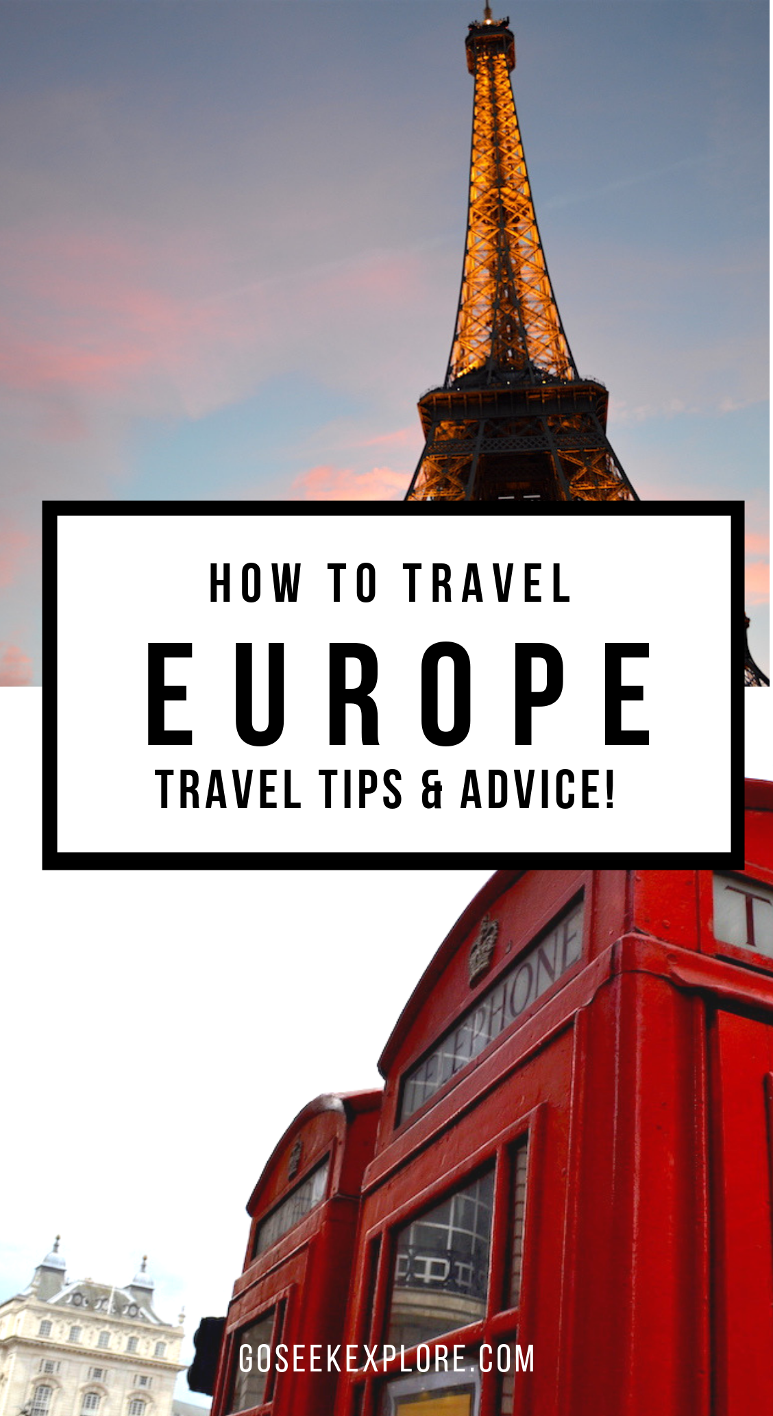 How To Travel Europe - Travel Tips & Advice! Great information for traveling Europe, especially if it is your first time on the continent. GoSeekExplore.com