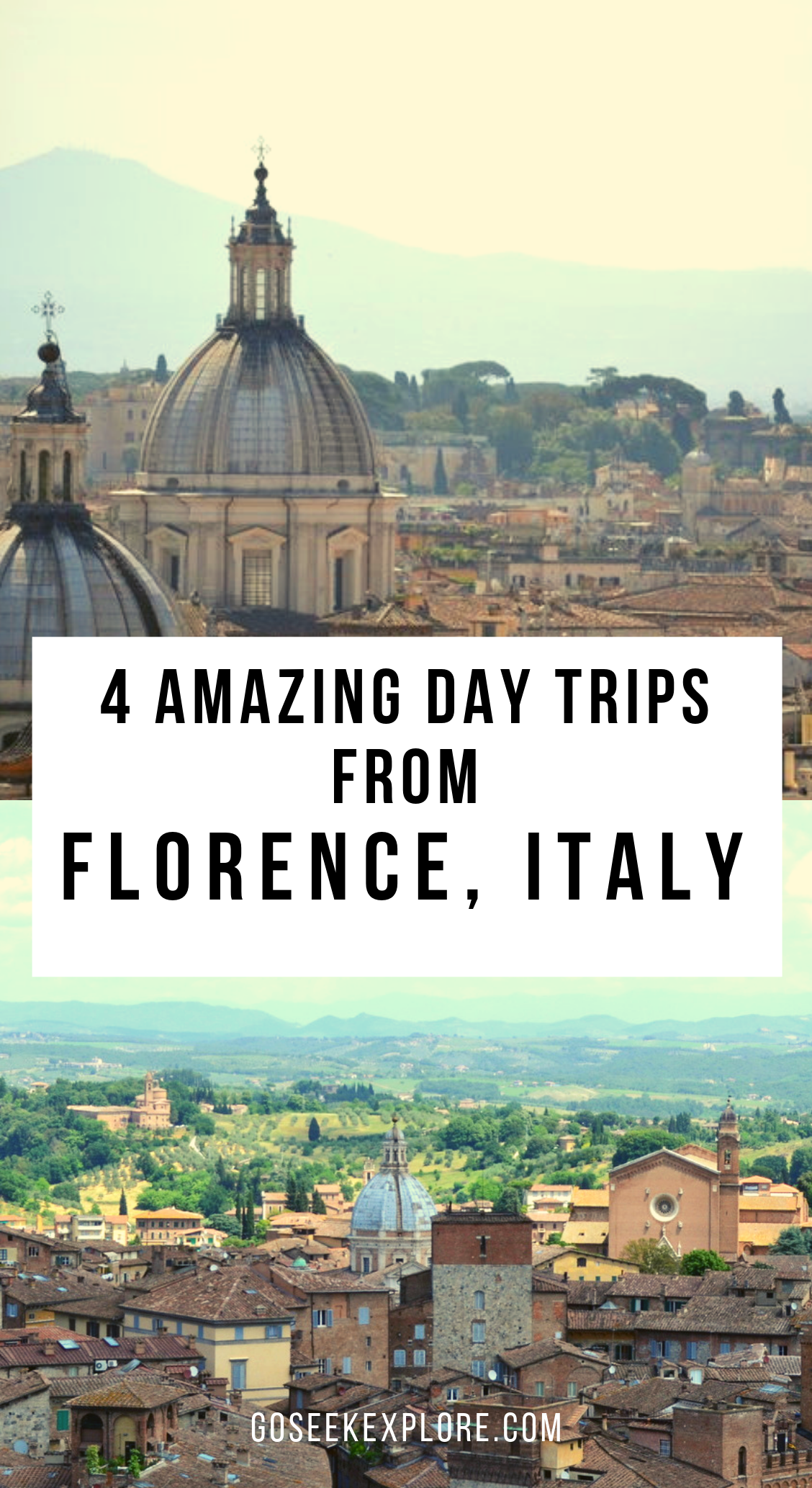4 Amazing Day Trips From Florence, Italy! From Tuscany to Umbria, coastal towns and even Rome, there are many lovely parts of Italy you can visit for a day trip if your travels are based in Florence. This article also includes a bunch of helpful guides and resources for traveling Italy! #italy #travel #traveltips #europetravel #eurotrip #europe #italytravel #italyvacation