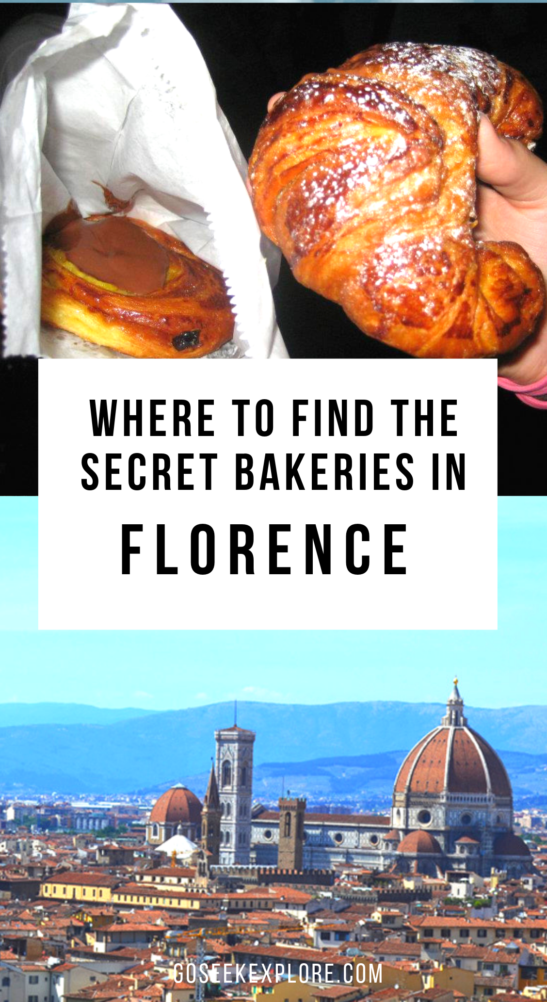 "Something special about Florence, Italy are the ""Secret Bakeries"" around town! Click through to this post to see what they actually are and how to find them! - Where to Find the Secret Bakeries in Florence #italy #florence #firenze #studyabroad #florencestudyabroad #italytravel"
