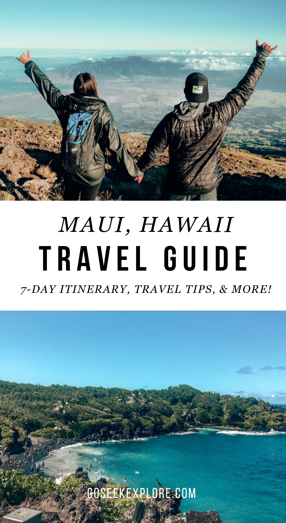 What to do in Maui, Hawaii for one week: full itinerary and travel tips! What to do in Maui, what to pack for Hawaii, Road to Hana, where to eat, and more! goseekexplore.com #hawaii #maui #mauitraveltips #hawaiihoneymoon #honeymoon #hawaiitravel