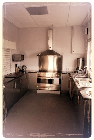 View of kitchen showing cooker