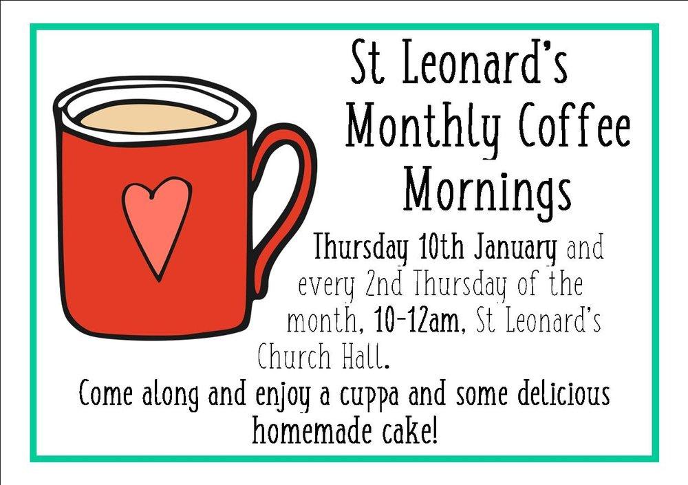 Monthly Coffee Morning St Leonards Church