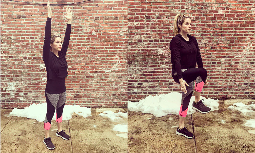 Improve your balance, and loosen tight hip flexors, by incorporating an exercise that perks up the pelvis, quads, arms and abs.