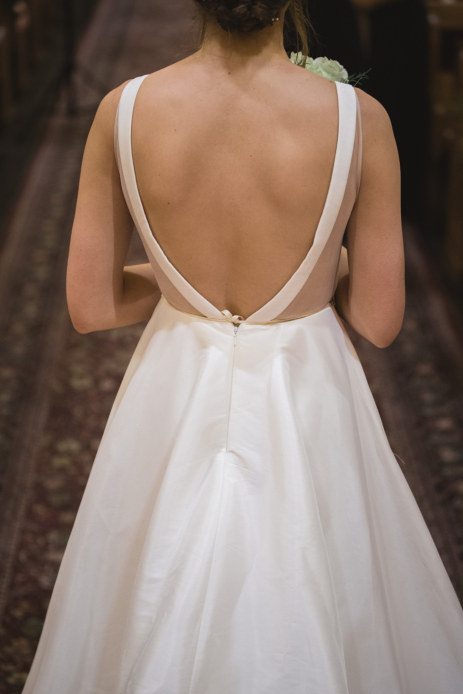 Back of BHLDN wedding dress