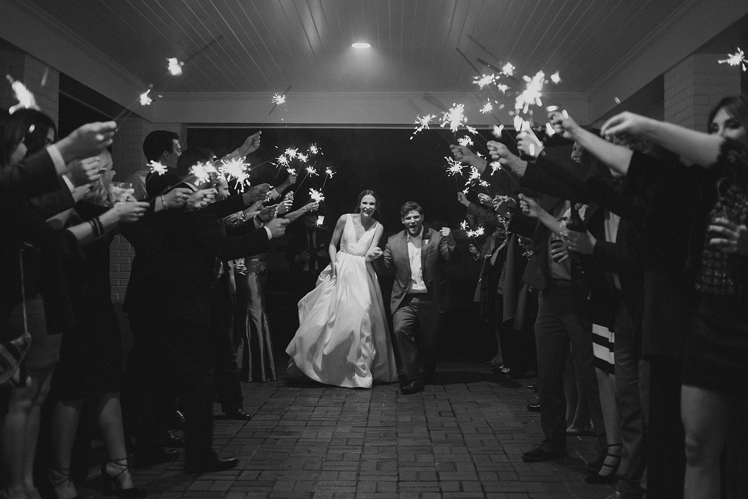 Sparkler exit at Bayou Desiard Country Club