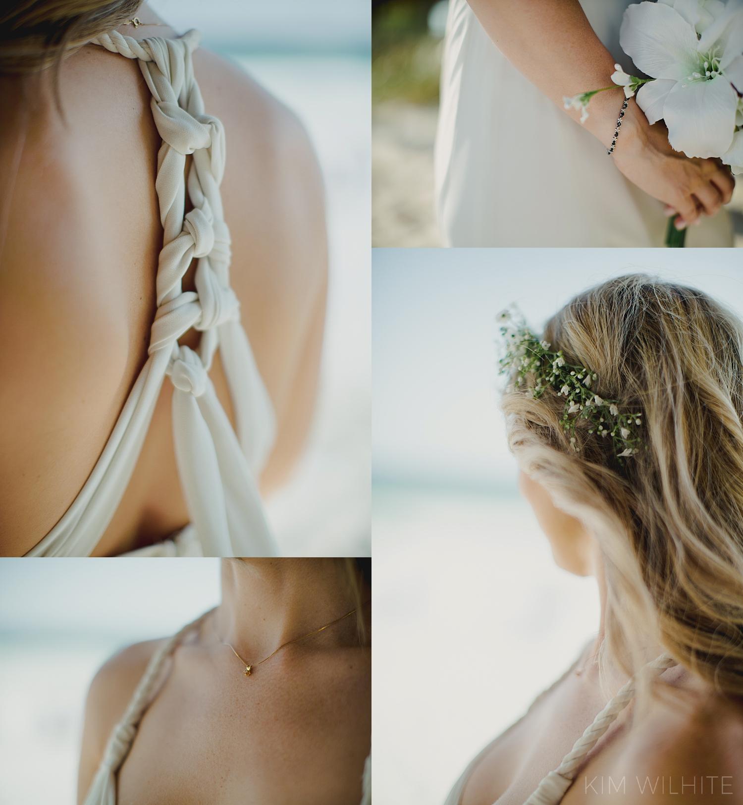 Beach Wedding Dress Details