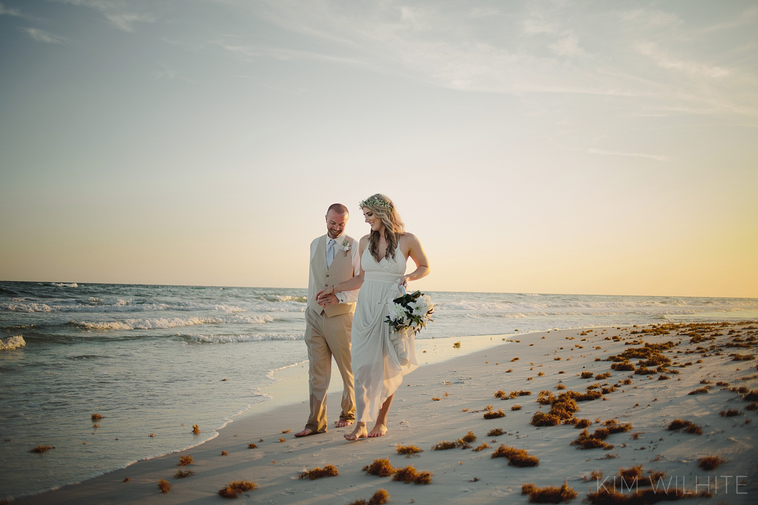 Beach Sunset Wedding Picture