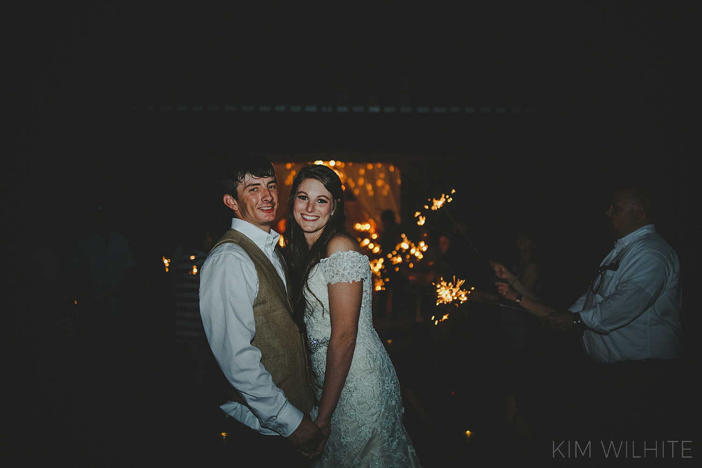 The Meadow Wedding Barn Sparkler Exit