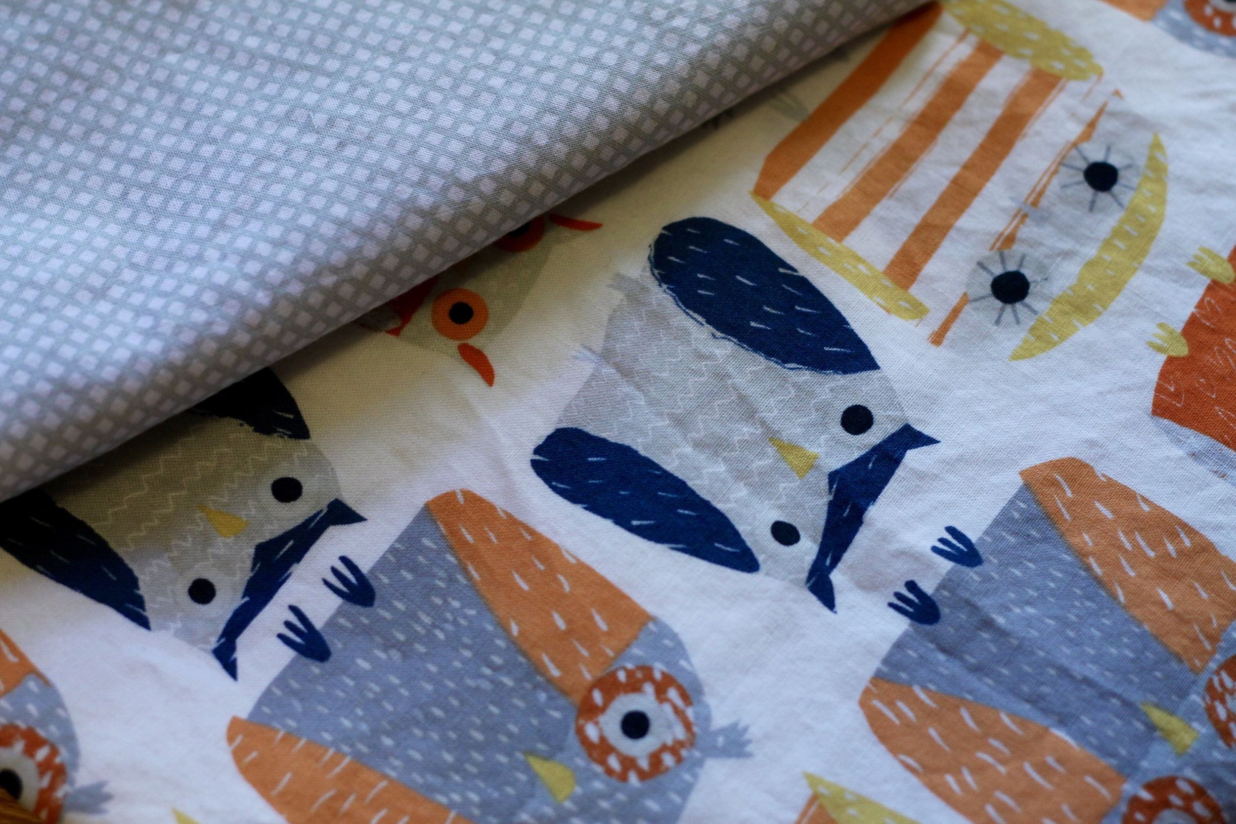 Coordinating fabric (Cotton and Steel) came from our local quilting shop, Calico Gals.