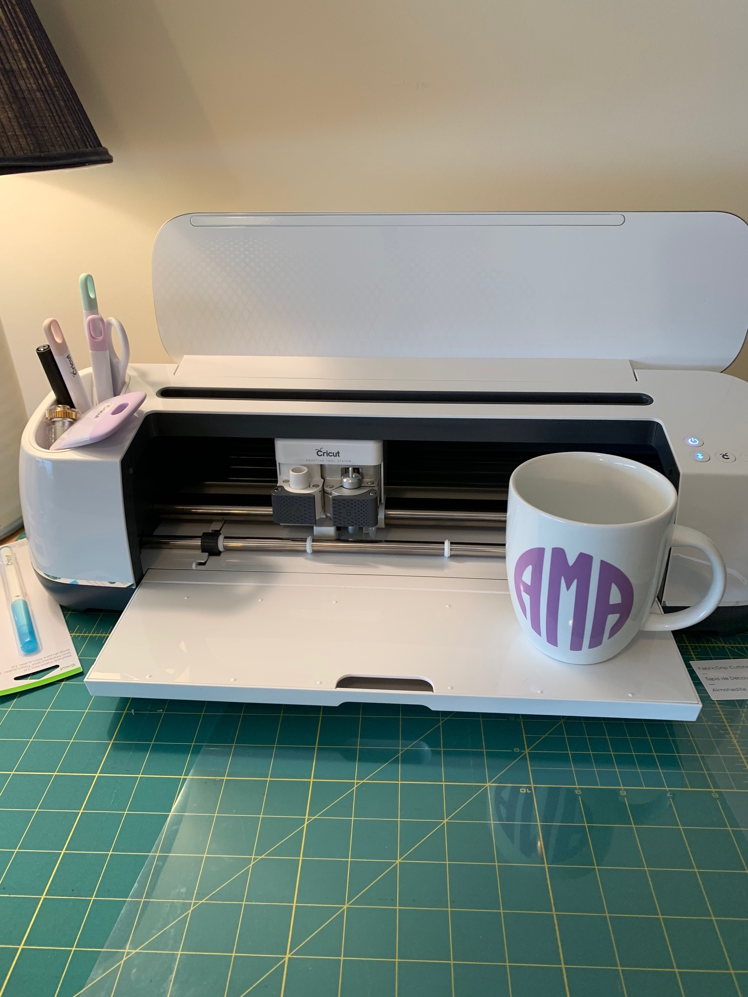 My machine in all its glory! and a mug I made for my sister in law :)