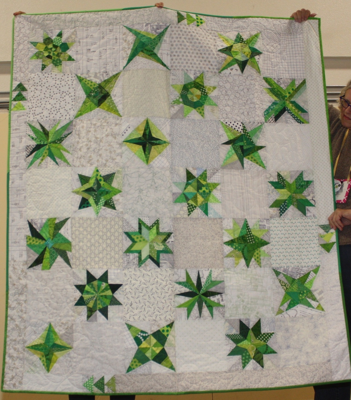 Cath Hall  Paper Pieced Green Stars  All of the patterns are on  Cath's blog