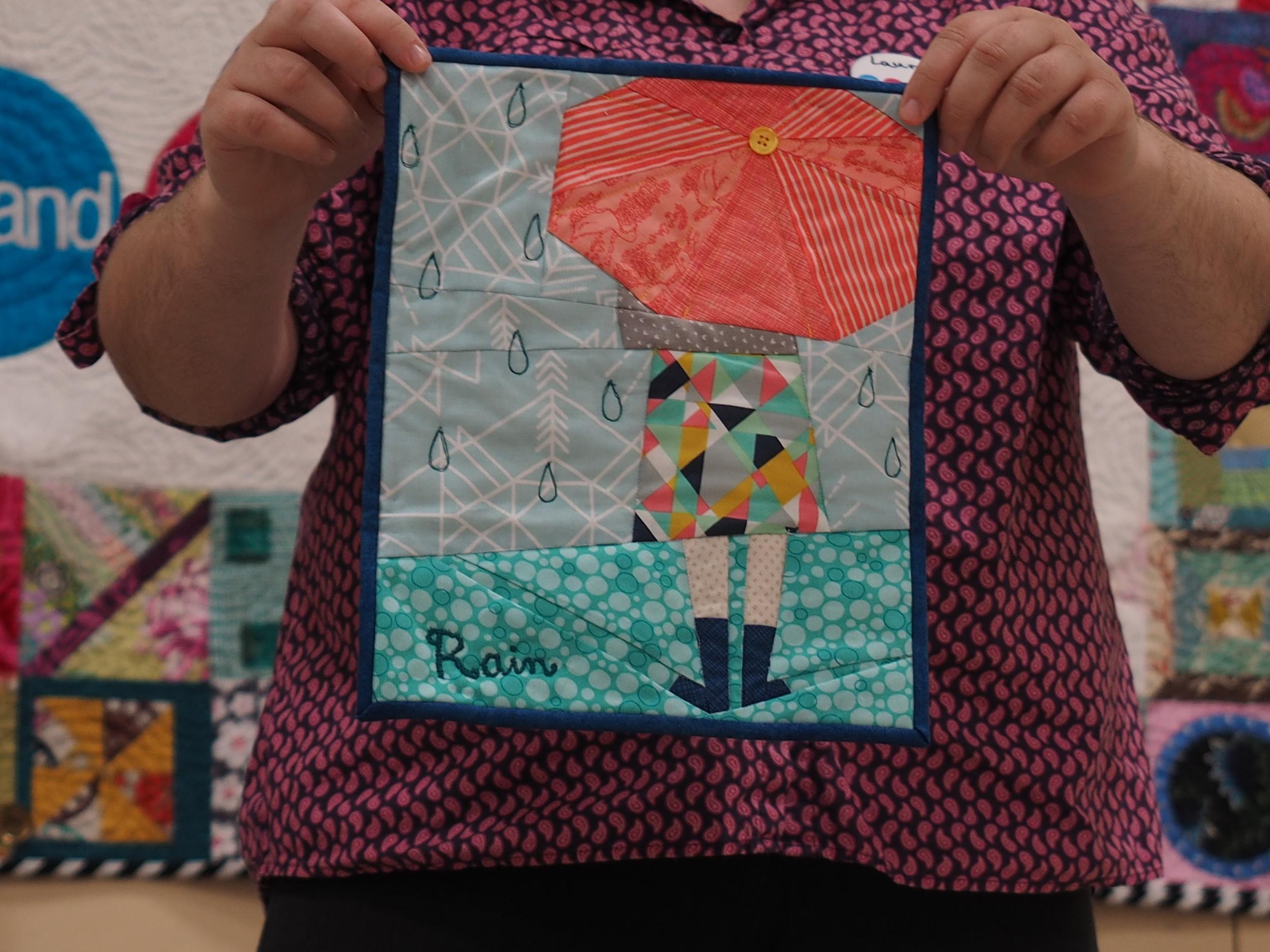 Julie Lund  Rain Mini Quilt