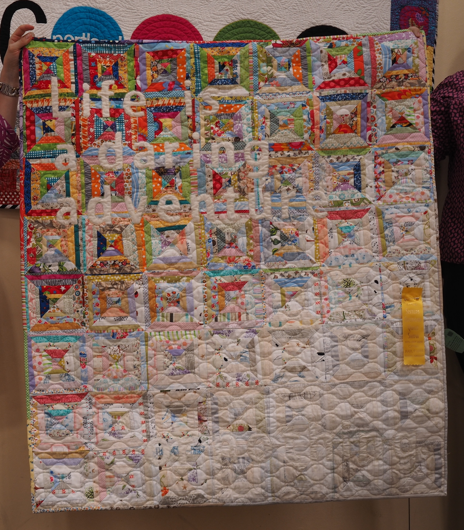Teresa Coates Life Quote  @teresacoates  Quilted by Zazumi Peterson