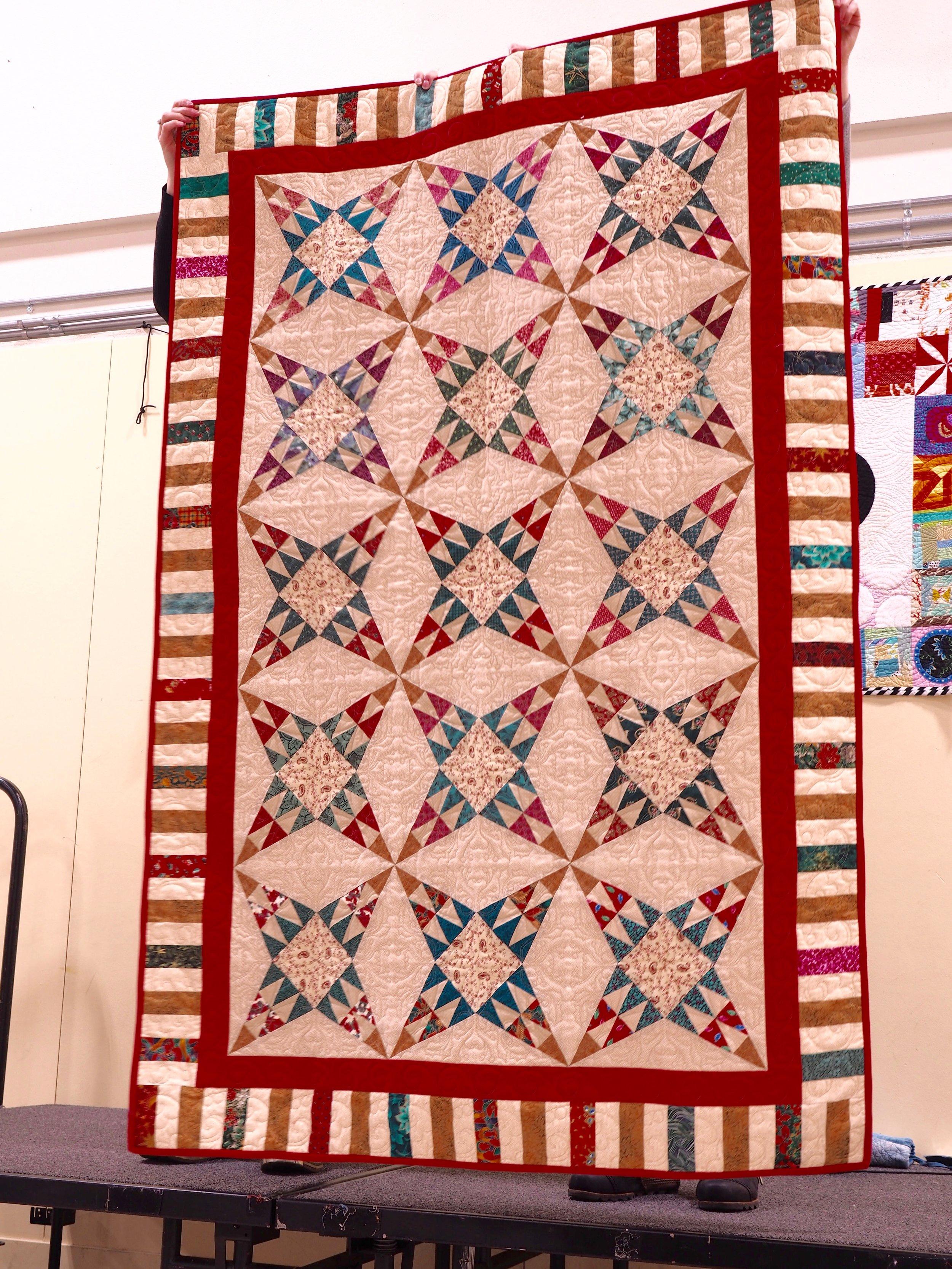 Christmas Star Quilt by Joy Ruplinger