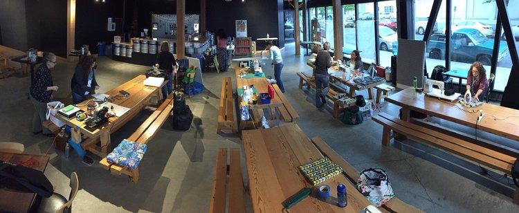 The workshop space at the Lagunitas Community Room
