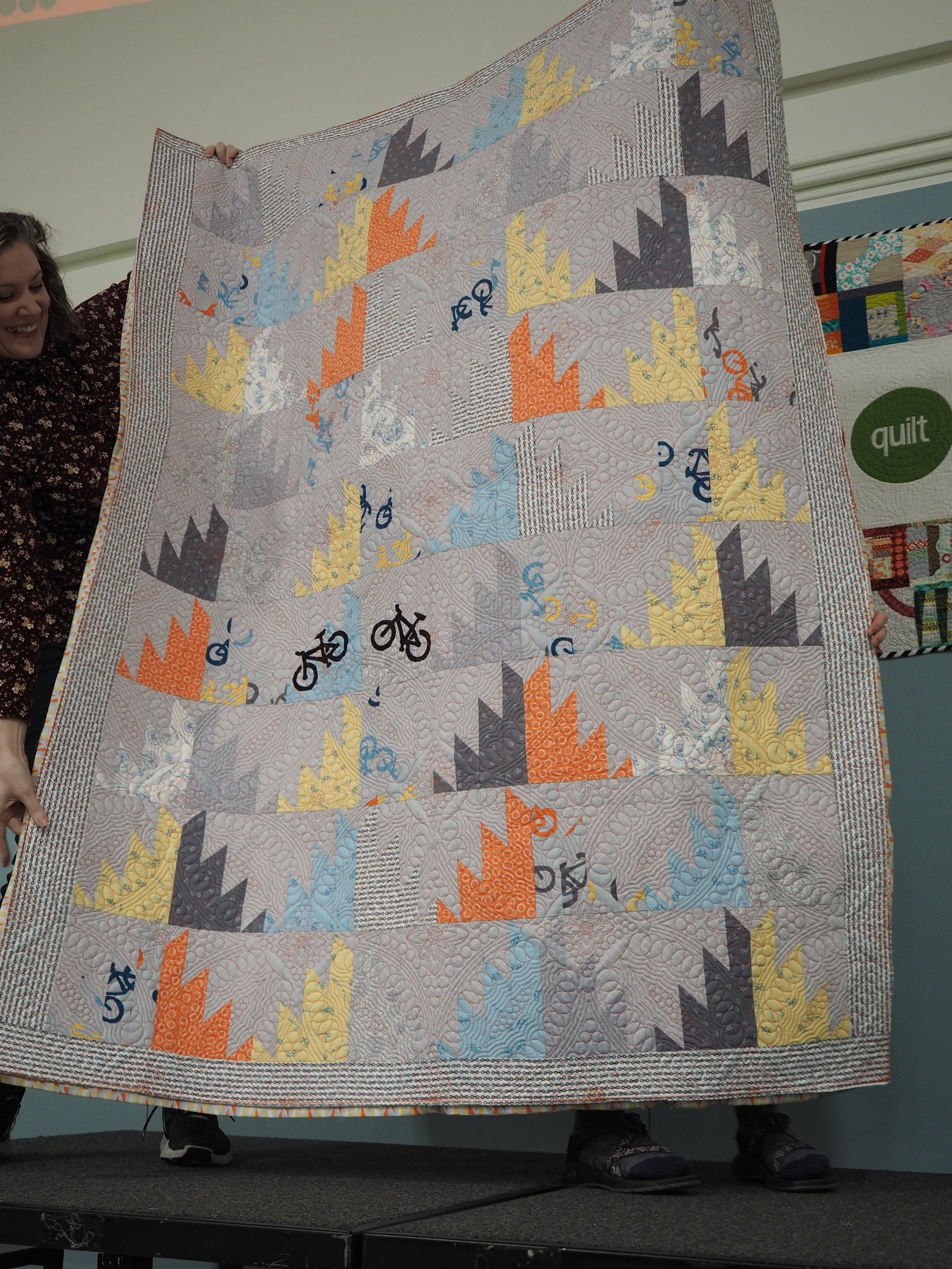 Reverse of Erin and Ben's Wedding Quilt