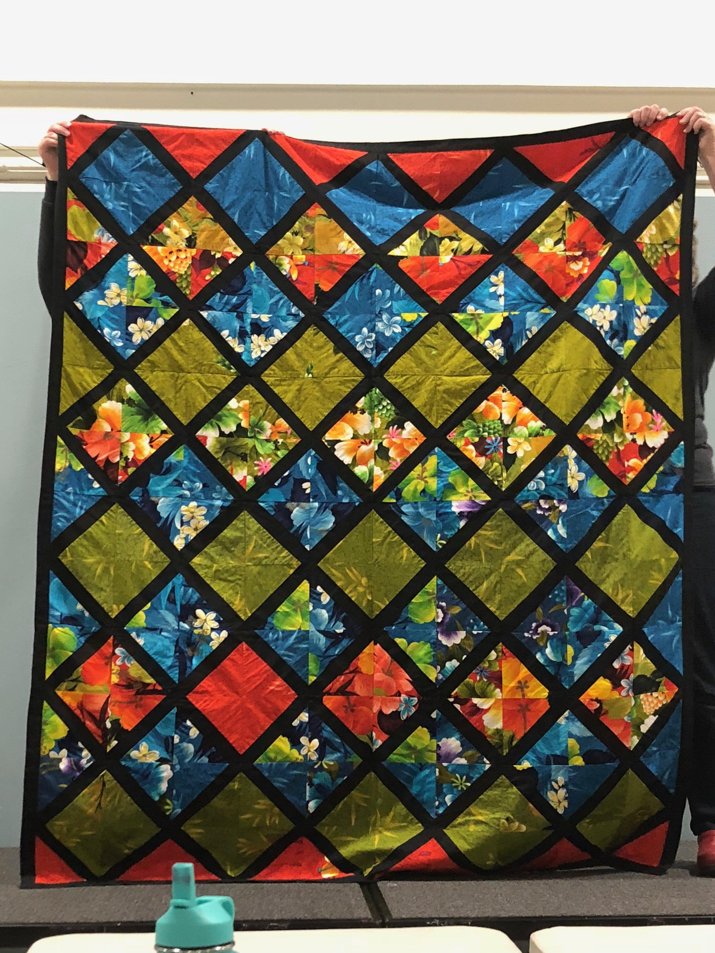 1970s Hawaiian Scrap Quilt presented by Bill Volckening