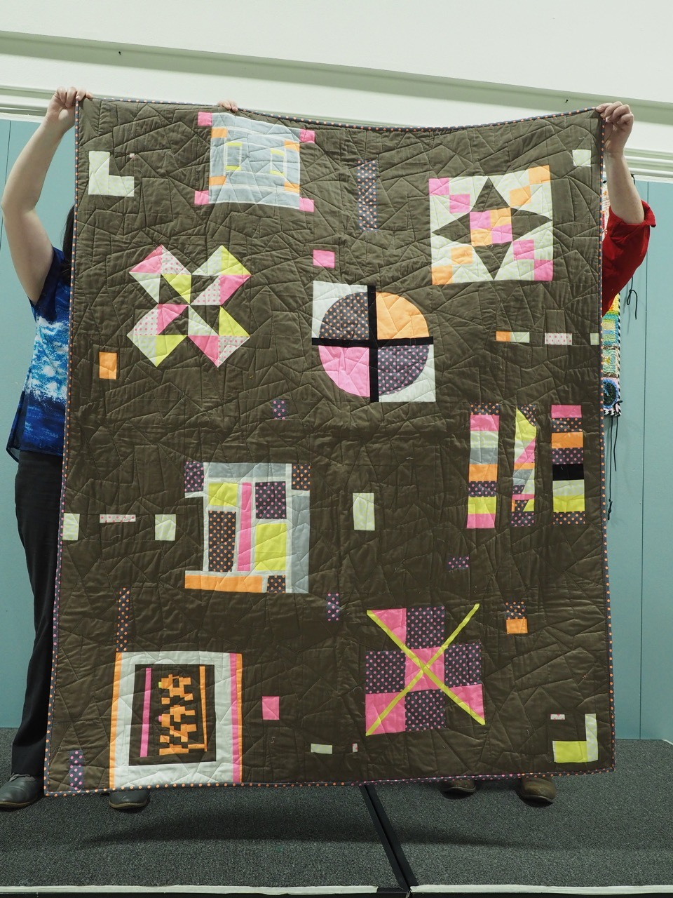 Quilt made during a PMQG Charity Sew Day
