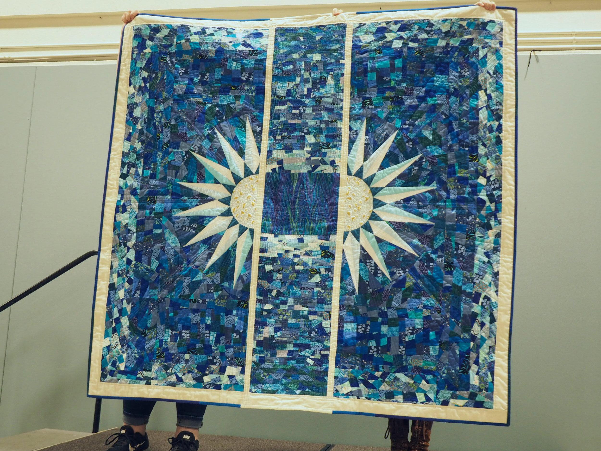Vishuddha Quilt by Gail Weiss