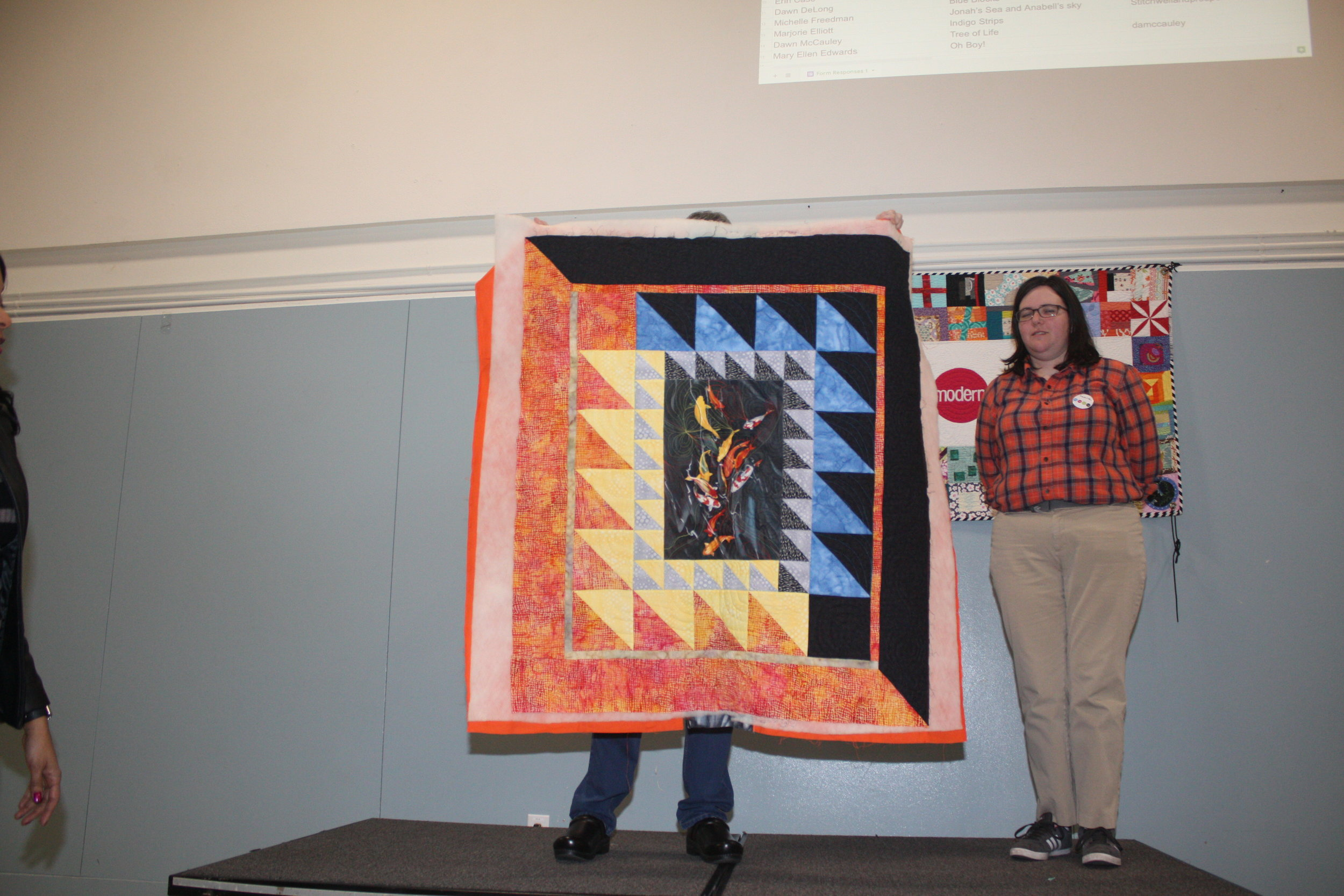 Koi Fish Charity Quilt by Kimberly Bennefield