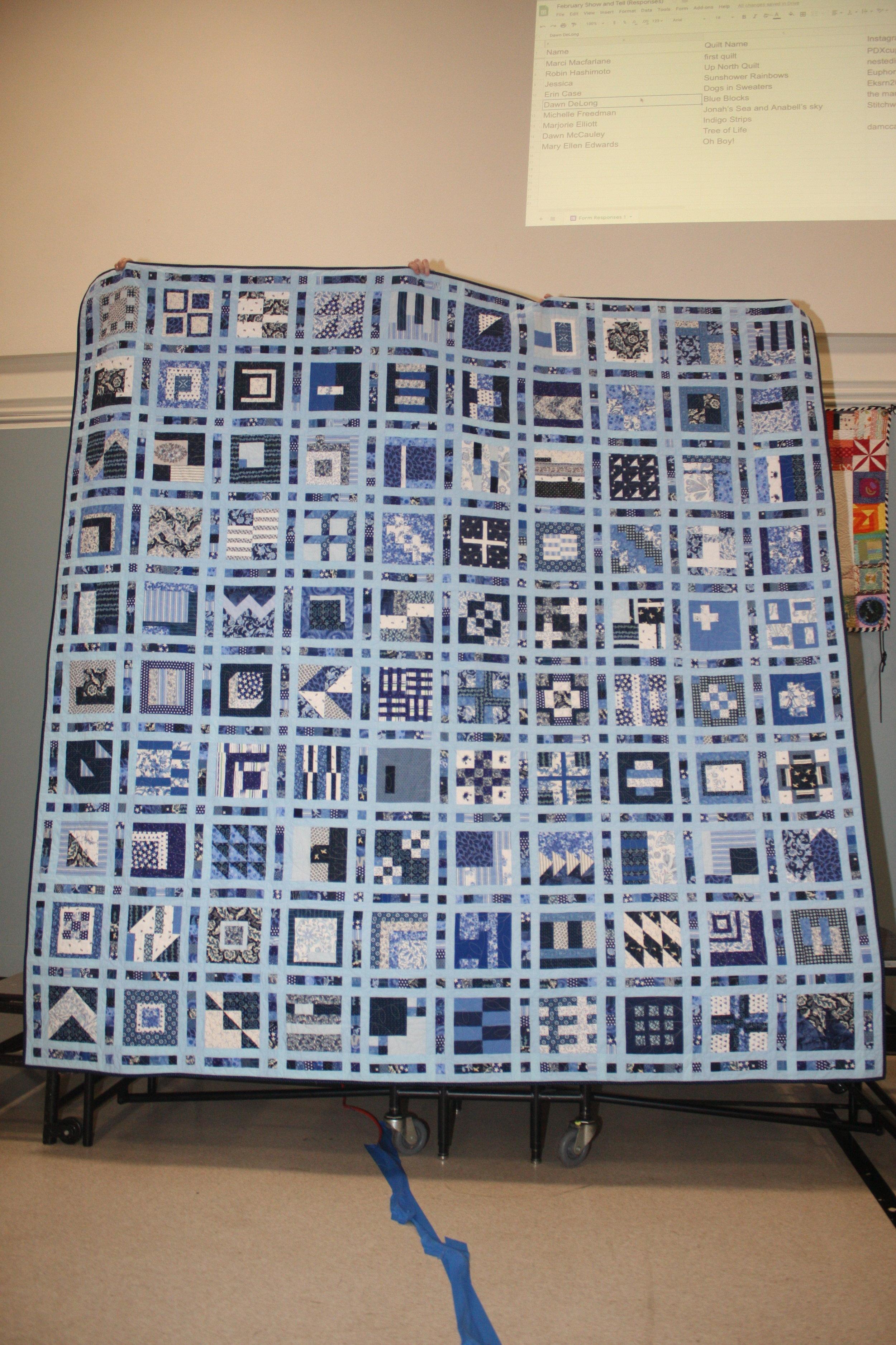 Blue Blocks by Dawn DeLong