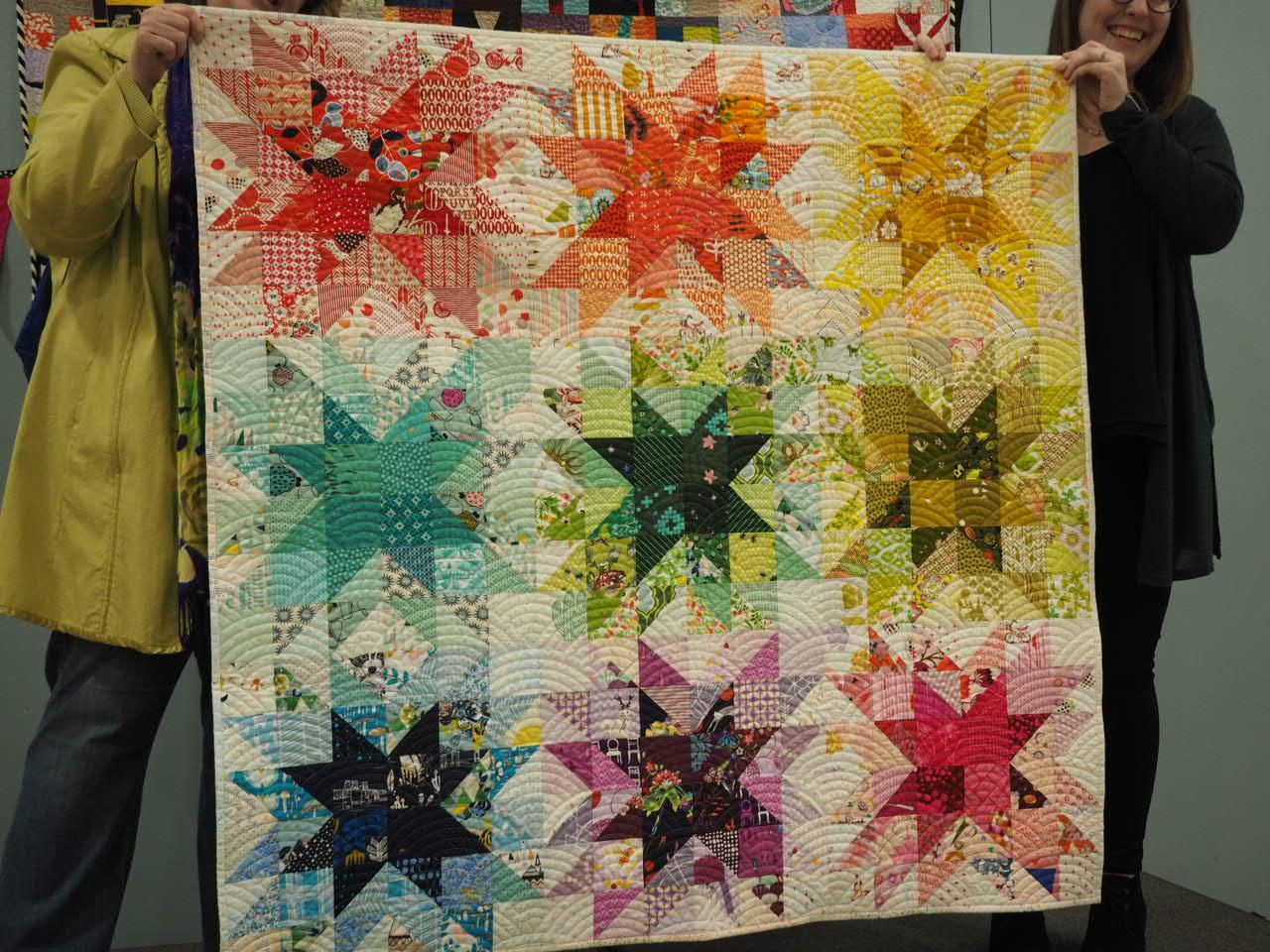 Rainbow Starflake by Meredith Hobbs