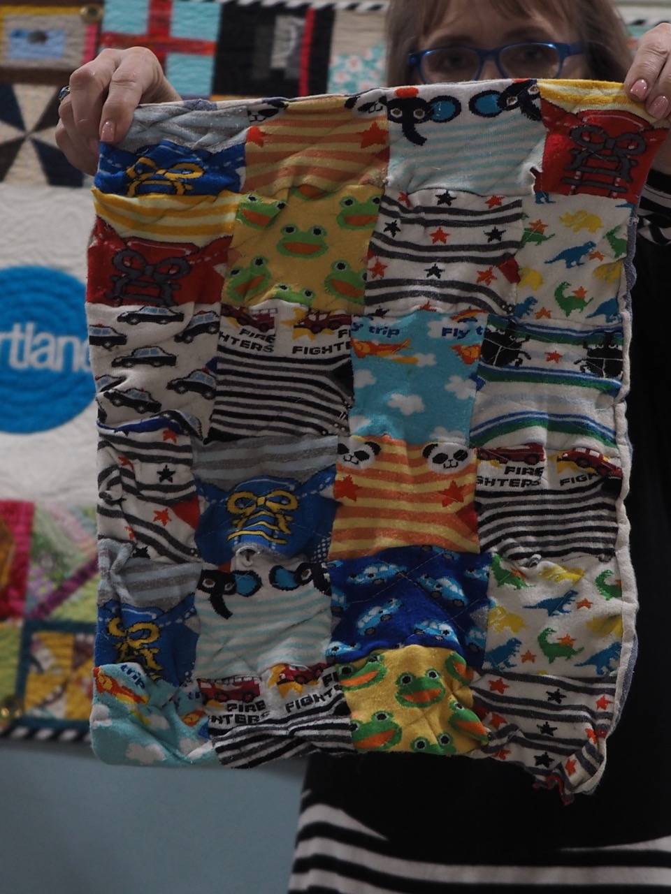 Baby Sock quilt by Nathan