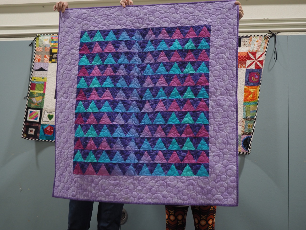 Tube Piece Quilt by Jolene Knight