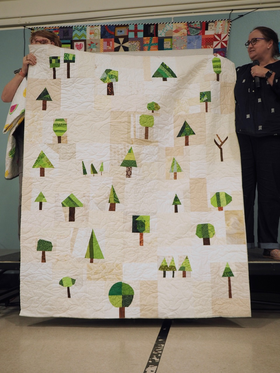 Wonky Tree Charity Quilt by PMQG Members