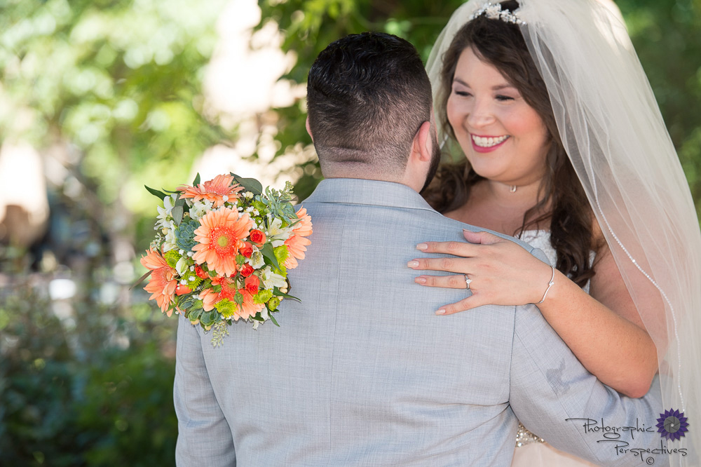 First Look | Hotel ABQ Wedding | New Mexico Bride | Photographic Perspectives | Albuquerque Wedding Photographers