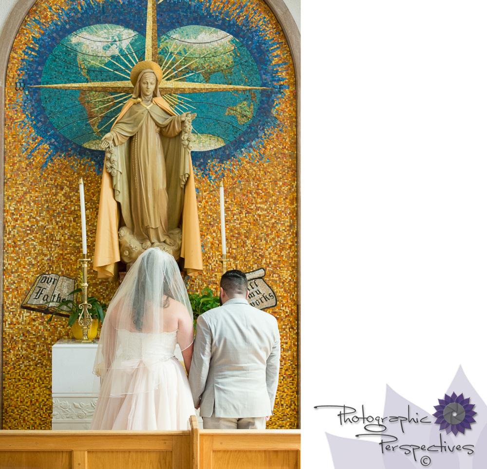 Photographic Perspectives   St Therese Catholic Church    Catholic Wedding Ceremony  Albuquerque Wedding Photographers