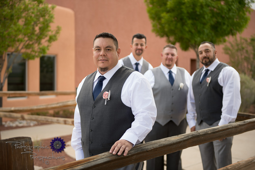 Isleta Resort and Casino Wedding | Albuquerque New Mexico | Groomsmen | Groom Prep | Photographic Perspectives