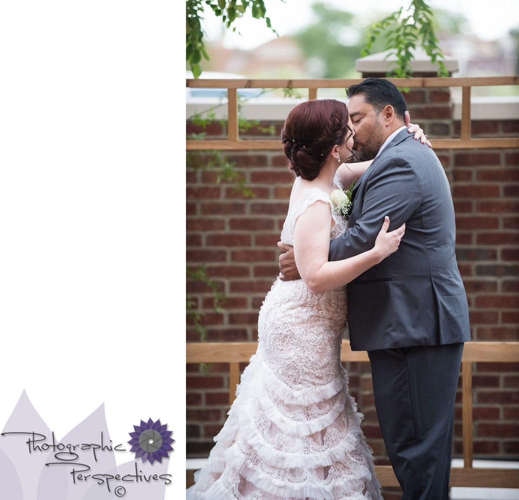 Albuquerque Wedding Photography | Photographic Perspectives | Noahs Event Venue Wedding | First Kiss | Wedding Photographers in Albuquerque