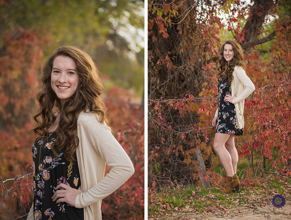 New Mexico Senior portraits in Corrales during the fall. We love those fall colors!
