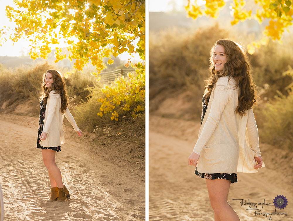 Fall Senior photo shoot in Corrales, NM.